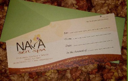 Istant Spa Gift Certificate